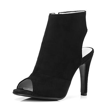 Talon Chaussures Femme été Microfibre 06840551 Vin Printemps Gris Aiguille Sandales foncé Confort Noir YUUdqwx