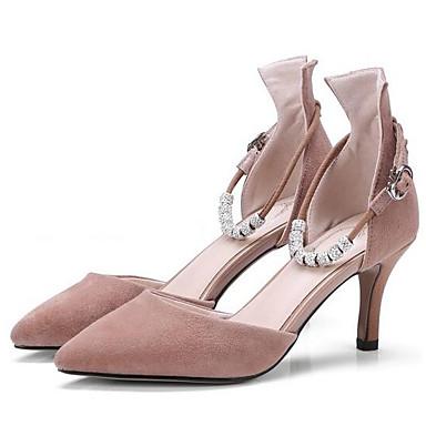 les talons de chaussures confort mouton talon talon talon aiguille rose au printemps e2986d