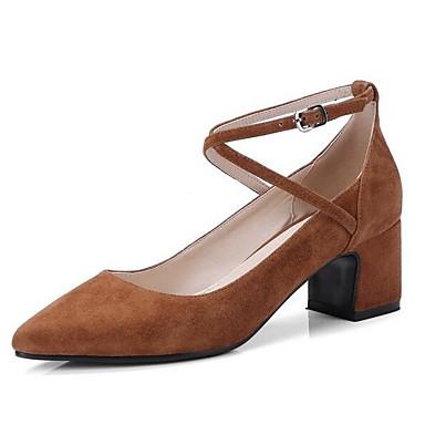 Printemps Daim Confort Talons Talon à Chaussures 06798816 Chaussures Marron Noir Bottier Femme EqSWn6T