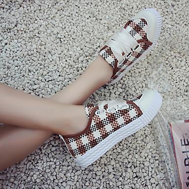06833143 Plano Tacón de Zapatillas PU Verano Dedo Punto Confort redondo Mujer Marrón deporte Negro Zapatos Rojo zx4wZZ