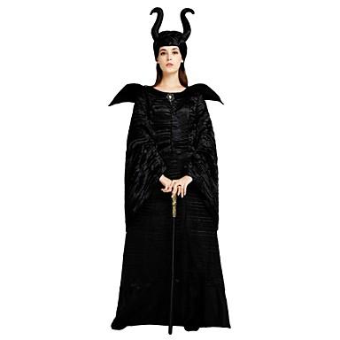 c90af6048176 Heks Kostume Dame Voksne Halloween Halloween Karneval Maskerade Festival    Højtider Polyester Udklædning Sort Ensfarvet Halloween 6830061 2019 –  56.09