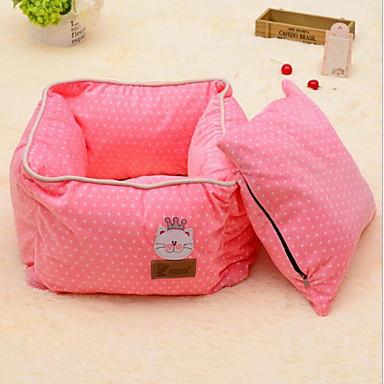 Puha / Može se prati / Slatko Odjeća za pse Kreveta Na točkice Kava / Plava / Pink Psi / Mačke