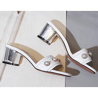 Eté Sandales Amande Talon Bottier Blanc 06785362 Escarpin Nappa Cuir Confort Chaussures Femme Basique Cqw0tt
