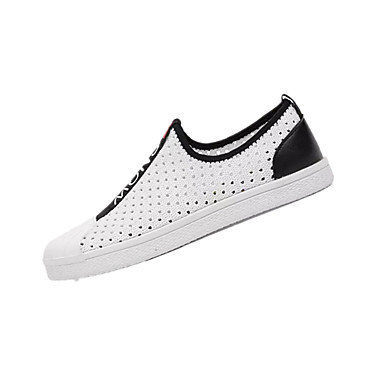 Men's Knit / Loafers Elastic Fabric Summer Comfort Loafers / & Slip-Ons White / Black c724ae