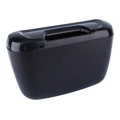 voordelige Auto-interieur accessoires-ziqiao voertuig auto auto vuilnis afval kan stof vuilnisbak opbergdoos container - zwart
