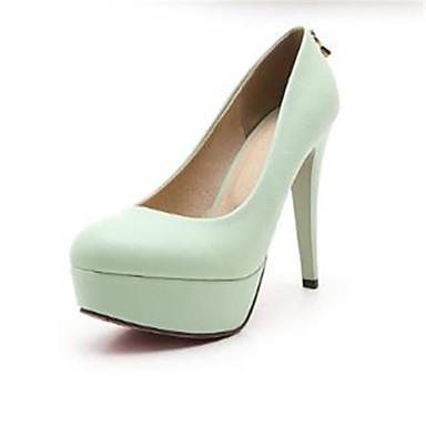 Bout Vert Talon à Printemps Femme Noir été Talons Basique Chaussures rond 06783430 Rose Polyuréthane Escarpin Aiguille Chaussures 0zz1Pw