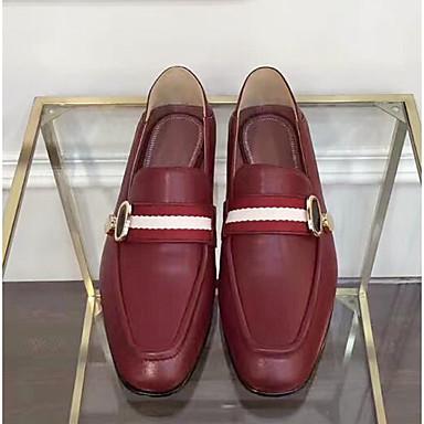 D6148 Chaussures Bourgogne Plat Chaussons Eté et Nappa Femme Cuir Bout Mocassins 06831348 Noir Talon Confort fermé qdCn8g