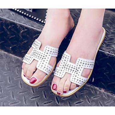Tongs Eté Femme Blanc Chaussures Plat Cuir Chaussons Noir amp; Confort Talon Nappa 06778593 dg0tqSvwt