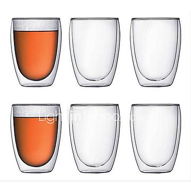 Drinkware Sticlă de bor înalt Căni -Izolate termic 1 pcs