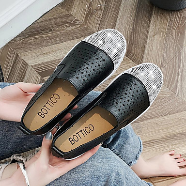 Confort Negro Zapatos Mujer PU Plano Beige de Zapatillas 06791950 Tacón deporte Dedo redondo Verano qtqPZdnx6