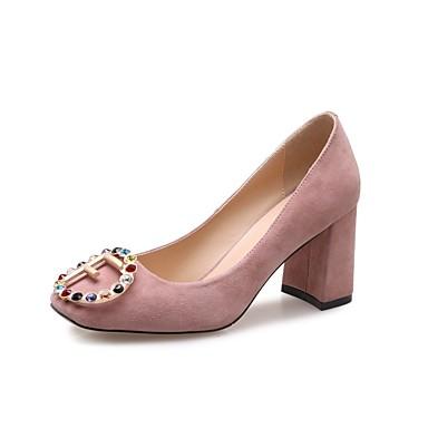 Rose à Talon Noir 06832347 Escarpin Chaussures Femme Talons Daim Basique Chaussures Bottier Eté YfwBPx1q