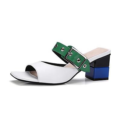 Eté Cuir Amande Confort Heel 06778477 Nappa Block Sandales Femme Blanc Chaussures USxqgtwnp