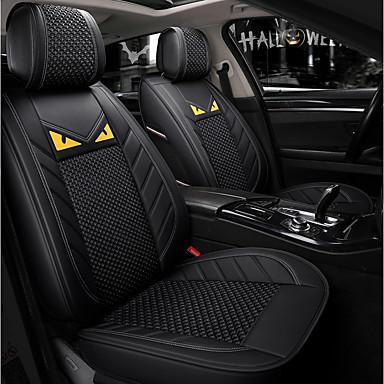 voordelige Auto-interieur accessoires-5 zetels zwarte cartoon vier seizoenen algemene autostoel volledige hoes voor vijfzits auto / ijszijde materiaal / airbag compatibiliteit / verstelbaar en afneembaar / gezinsauto / suv