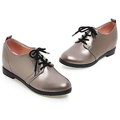 Bailarinas PU Mujer 06785712 Beige redondo Zapatos Cuadrado Tacón Dedo Confort Primavera Gris Negro rII5qw
