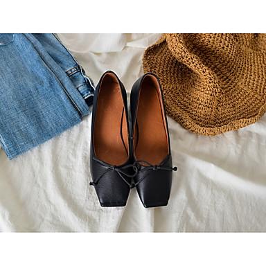 06801329 foncé Blanc Heel Noeud Eté Noir Block Confort Ballerines Femme Gris Chaussures carré Bout Cuir HZwxgq4q
