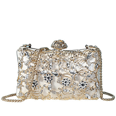 570005219e45 Women s Bags PU(Polyurethane) Evening Bag Crystals   Hollow-out White    Black   Blushing Pink
