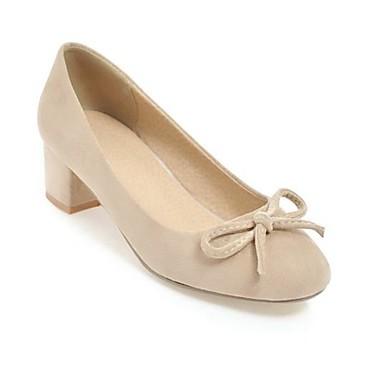 carré Basique à 06827843 Talon Marche Chaussures Jaune Rose Bout Printemps Beige Talons Escarpin Cuir Confort Bottier Chaussures Femme pgHSAA