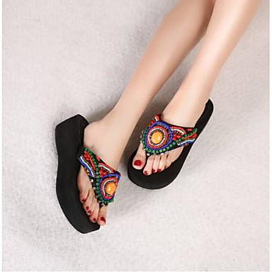 Femme Sandales Bout Confort Eté Toile Creepers Noir Chaussures 06778170 ouvert pqxpHwg
