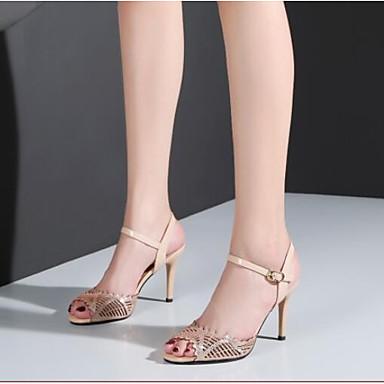 Aiguille 06791453 Chaussures Eté Nappa Sandales Femme Talon Noir Cuir Amande Confort n0wOZqZa6
