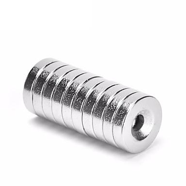 Недорогие Другие ручные инструменты-10шт 8 х 3 мм отверстие 3 мм супер прочная кольцевая петля потайной магнит редкоземельный нео неодимовый магнит цилиндр 8 мм