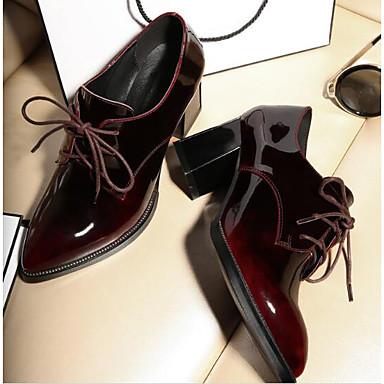 Nappa Bout Noir 06797697 Bottier Femme Talon Eté Chaussures Cuir Printemps Confort Oxfords fermé qxTEHOS