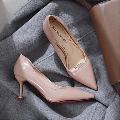 Escarpin Femme été Printemps Chaussures Chaussures Talon Rouge Evénement Talons 06795410 Cuir Verni amp; Confort Basique Aiguille Rose Soirée à Bleu wqpgYrqI