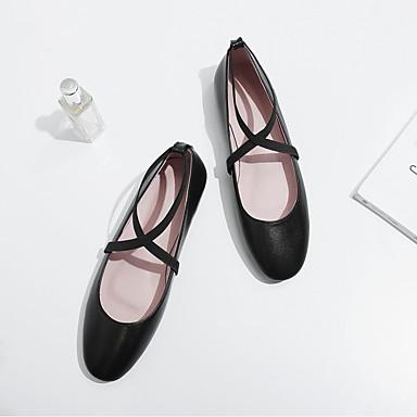 Chaussures Cuir été Nappa 06818709 Noir Vin Confort Plat Femme Talon Printemps Ballerines gdSqIgx
