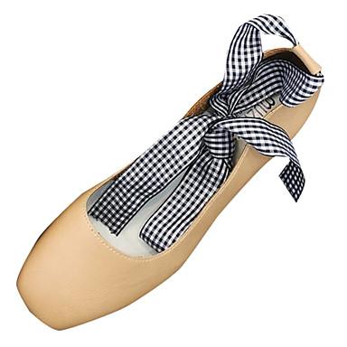 Women's Shoes PU(Polyurethane) Summer Ankle Strap Heels Black Chunky Heel Square Toe Black Heels / Beige / Light Brown 72db8b