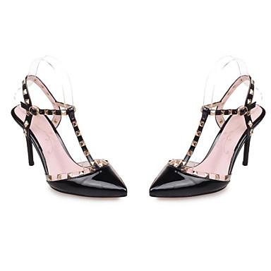 Sandales Chaussures Noir Polyuréthane Escarpin Aiguille Rouge Basique Femme Eté Confort Talon Rose 06797400 xFgqRYCCw
