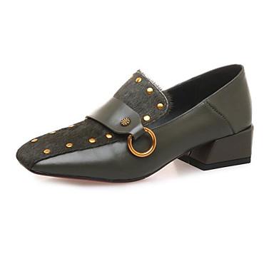Vert Printemps 06791983 Block Chaussures Mocassins Automne foncé Nappa D6148 Heel Chaussons Cuir et Confort Femme Noir wqaUOxWtHH