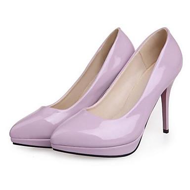 Žene Cipele PU Proljeće Udobne cipele Cipele na petu Stiletto potpetica Bijela / Crvena / Zelen