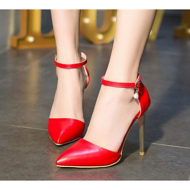 Noir à Chaussures Blanc Rouge Femme Confort Aiguille Printemps Chaussures Polyuréthane Talons Talon Escarpin 06801213 Basique Y0q7FR0w