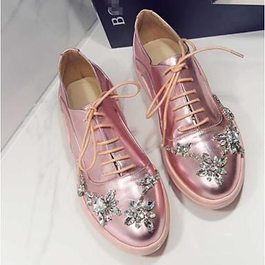 Chaussures Printemps Bout Plat fermé Cuir Rose Eté Nappa Confort Talon 06831888 Basket Femme dqgZwd