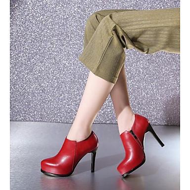 Rouge Nappa Aiguille Chaussures Escarpin Femme 06791290 Cuir Talons Basique Printemps été Noir Chaussures à Talon xEOAwq