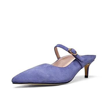 mouton Peau Confort Daim Sabot Eté Printemps Talon de Chaussures Femme Rose Bleu Noir 06783431 Aiguille Mules amp; 4EIwqW0