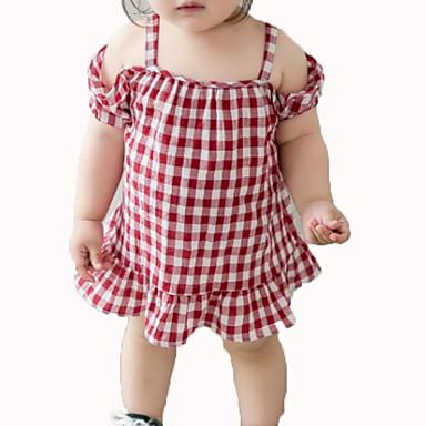 Dijete Djevojčice Karirani uzorak Bez rukávů Haljina