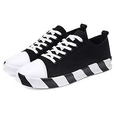 Men's Canvas Fall Comfort Sneakers Color Block Black Black / Gold / Black Block / White 07ef9b