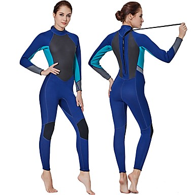 b5fb379971 Women s Full Wetsuit 3mm SCR Neoprene Diving Suit Anatomic Design Stretchy  Long Sleeve Autumn   Fall Spring Summer   Winter   Micro-elastic  06831698
