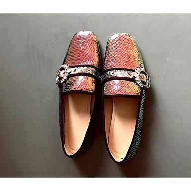 Femme 06817112 Automne synthétique Matière et Confort Chaussures Mocassins Talon D6148 Plat Printemps Noir Chaussons rwOqIr4C