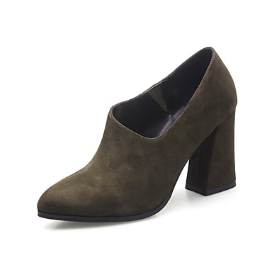 Femme Kaki été Talon Chaussures à Chaussures Printemps Noir Daim Rouge 06835488 Confort Talons Bottier g7nqBrg1