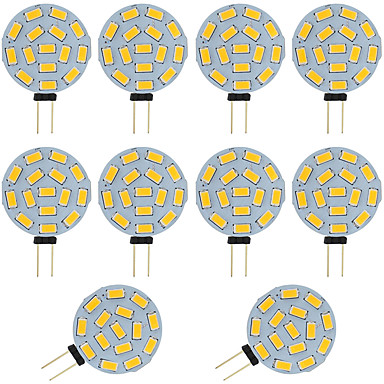 10pcs 2W 360lm G4 Luces LED de Doble Pin T 15 Cuentas LED SMD 5730 Blanco Cálido Blanco Fresco 12-24V 12V