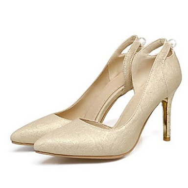 Talons Aiguille Chaussures Printemps Chaussures à Femme Escarpin Polyuréthane Confort 06795813 Talon Rose Automne Basique Or Argent zwdxPUq