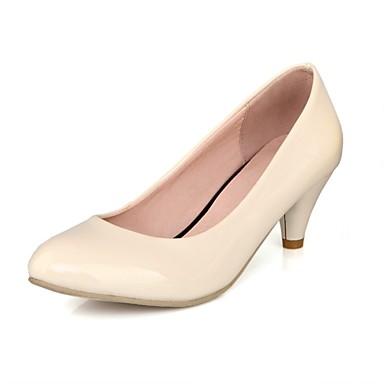 Chaussures Talon Noir Chaussures Aiguille à Femme Printemps Beige Verni 06833290 Cuir Rouge été Confort Talons ZqxgHdw
