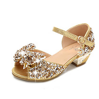 8967035ddf8f Girls' Shoes PU(Polyurethane) Spring / Fall Flower Girl Shoes / Tiny Heels  for Teens Sandals for Gold / Silver / Pink #06825808