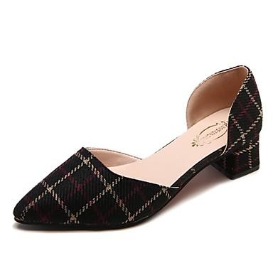 Dedo Beige Cuadrado Dos Piezas Verano PU Zapatos Tacones 06832899 Tacón Negro Puntiagudo D'Orsay Mujer y pgBqvpx