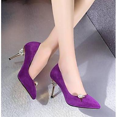 Confort Chaussures Noir Peau Talons de Chaussures mouton Printemps Aiguille 06777805 à Femme Talon Violet 1Xqwd1