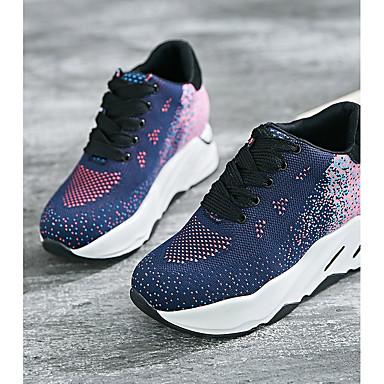 Printemps Chaussures Bleu Creepers 06796595 Confort hiver Automne Maille Basket Rose été Femme 1Egxx