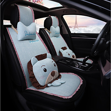 ODEER Car Seat Covers LightBlue Textile Cartoon Common For Universal All Years