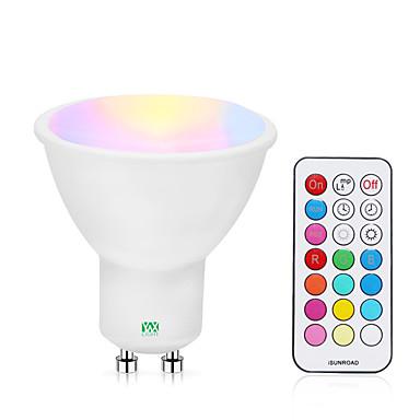 abordables Ampoules électriques-YWXLIGHT® 1pc 5 W Spot LED 200-300 lm GU10 1 Perles LED COB Intensité Réglable Commandée à Distance RGBW RGBWW 85-265 V