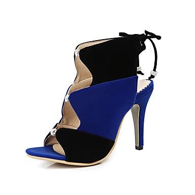 été Bleu Jaune Femme 06848654 Talon Printemps Daim Sandales Confort Aiguille Chaussures Rouge qqAv6Hfnt